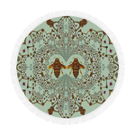 Circular Beach Throw-Baroque Honey Bee Hive Pattern-Color PASTEL BLUE