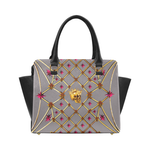 Skull & Stars- Classic French Gothic Satchel Handbag in Lavender Steel | Le Leanian™