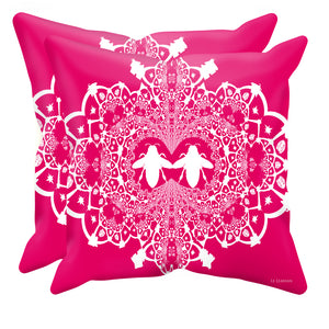 Baroque Hive Relief- Sets & Singles Pillowcase in Bold Fuchsia | Le Leanian™