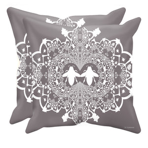 Baroque Hive Relief- Sets & Singles Pillowcase in Lavender Steel | Le Leanian™