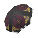 Crucifix- Fashion Umbrella- Gothic Chic Umbrella in Eggplant Wine- Wine Red- Burgundy
