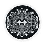 Circular Throw-Baroque Honey BEE Relief-Color BLACK & WHITE