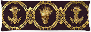 Caesar Gilded Skull & Bees- Singles & Body Pillow in Muted Eggplant Wine | Le Leanian™ | The Photographist™