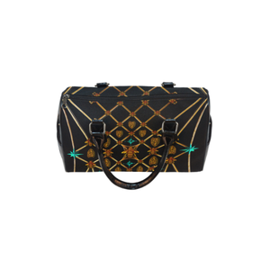 Gilded Bees & Ribs- French Gothic Boston Handbag in Back to Black | Le Leanian™