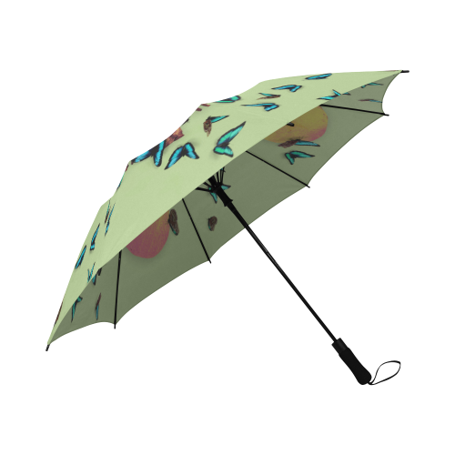 Siamese Skull Morpho-Semi-Automatic Foldable French Gothic Umbrella in Light Green | Le Leanian™
