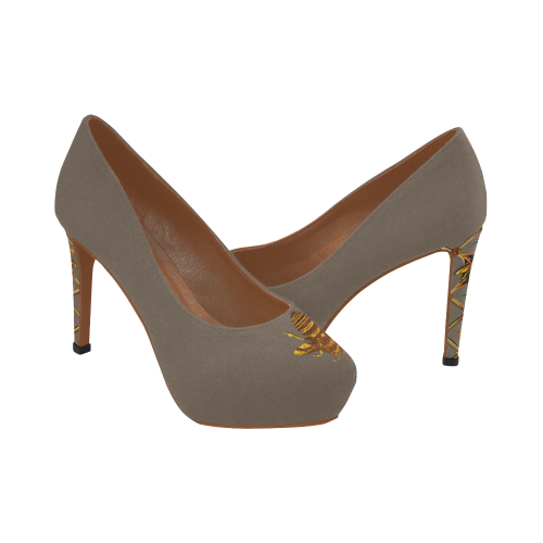 Gilded Bee- Women's French Gothic Heels in Cocoa Clay | Le Leanian™