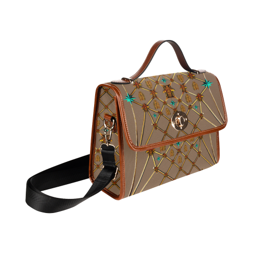 Bee Divergent- Classic French Gothic Mini Brief Handbag in Neutral Camel | Le Leanian™