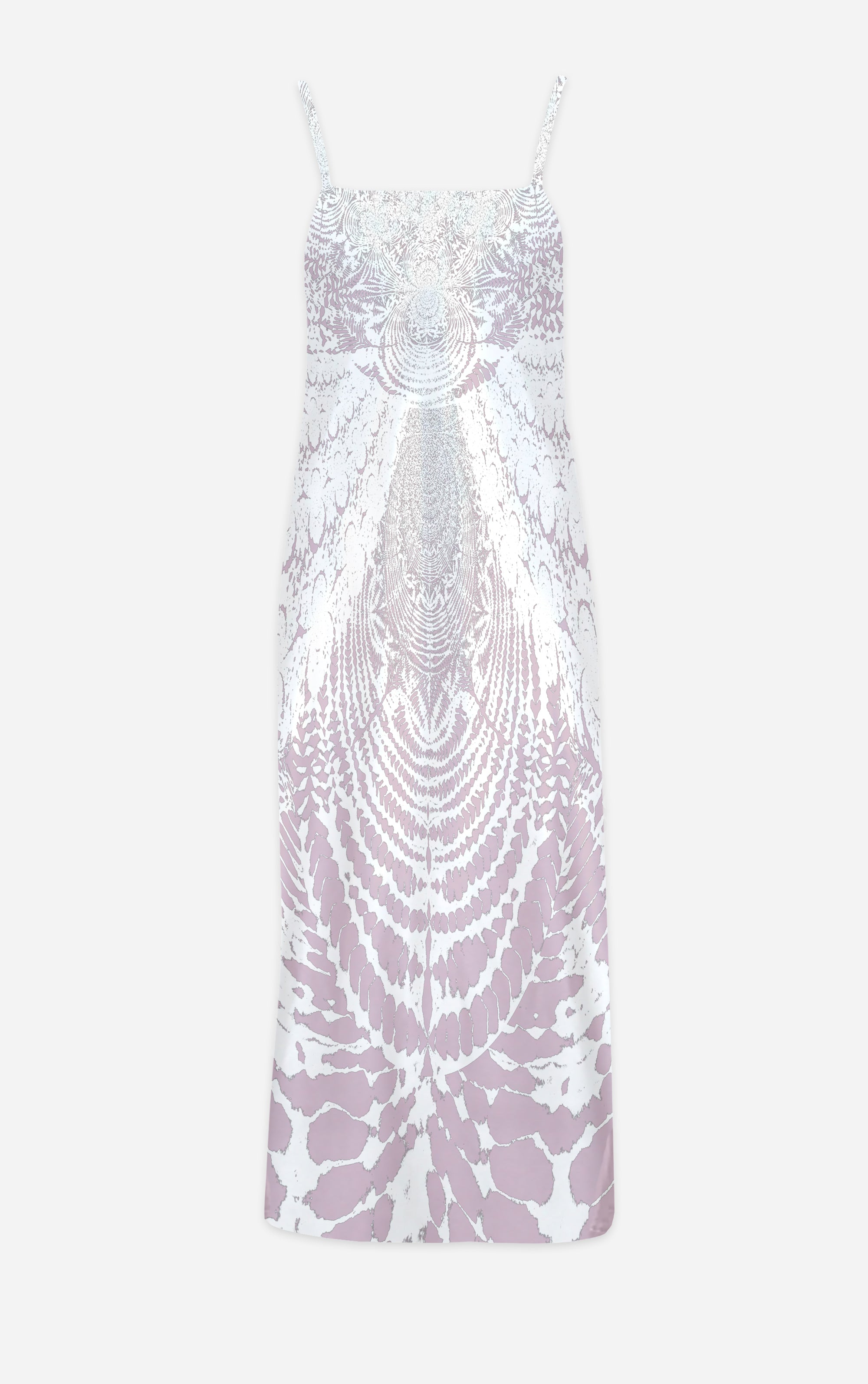Not Ya Mama's Tie Dye- French Gothic V Neck Slip Dress in Nouveau Blush Lavender | Le Leanian™