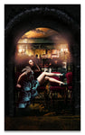 Byzantine Burlesque Billboard, Louisiana, French Quarter- Metal Print- Aluminum Print