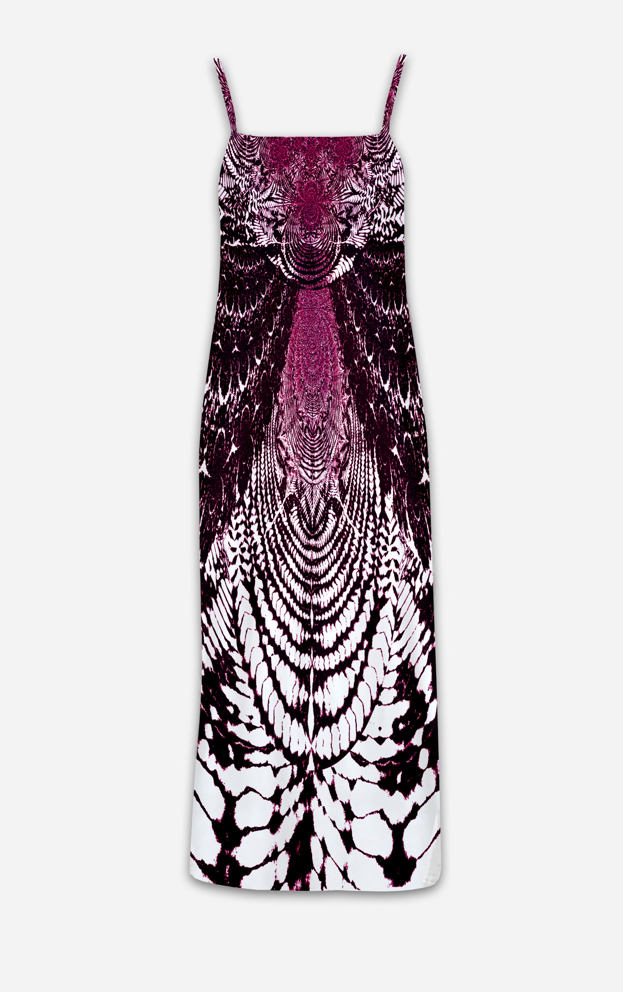 Not Your Mamas Tie Dye- French Gothic V Neck Slip Dress in Eggplant Wine | Le Leanian™