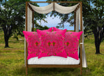 Baroque Honey Bee Pillowcase Set- Fuchsia Pink