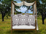 Baroque Honey Bee Relief Satin Pillowcase- French Gothic-Lavender Steel Purple