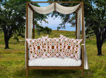 Royal Gilded Bees & Ribs & Stars- Pillowcase Set in Blush PINK