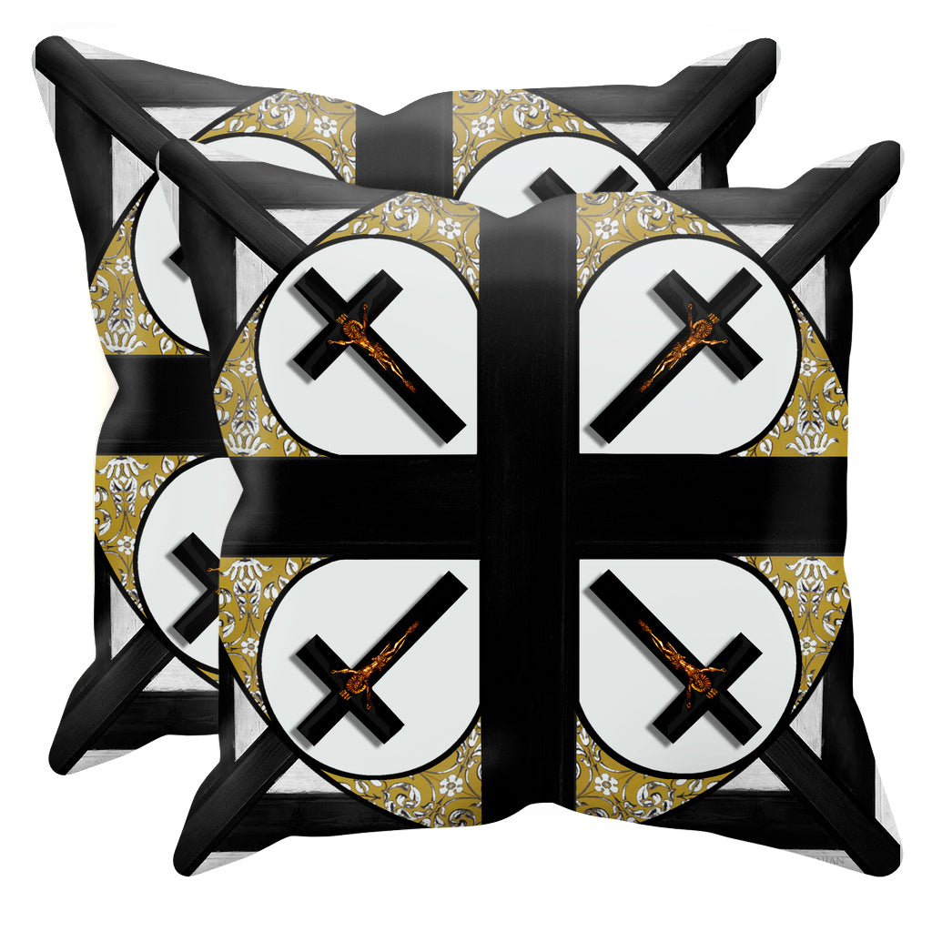 Crossroad Crucifix- Sets & Singles Pillowcase in Lightest Gray | Le Leanian™