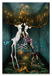 Jewish Folklore-The Guff & The Hall of Souls-Surreal Bucks with Golden Entanglements-Metal Print-Aluminum Print