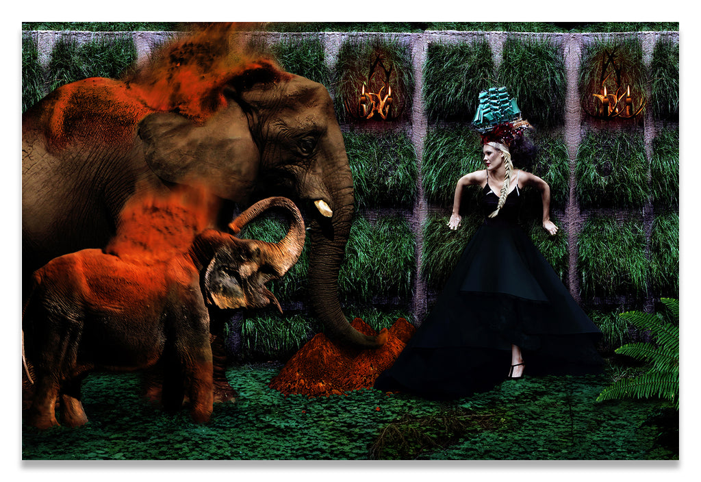 Uncertain Sanctuary - Surreal Fashion Fine Art Portrait Print on Canvas | The Photographist™