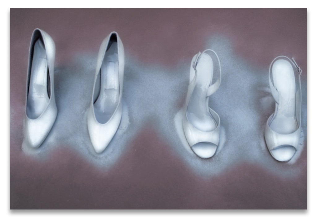 Winter White Painted Fine Art Stilettos- Surreal Fashion- Fine Art Print