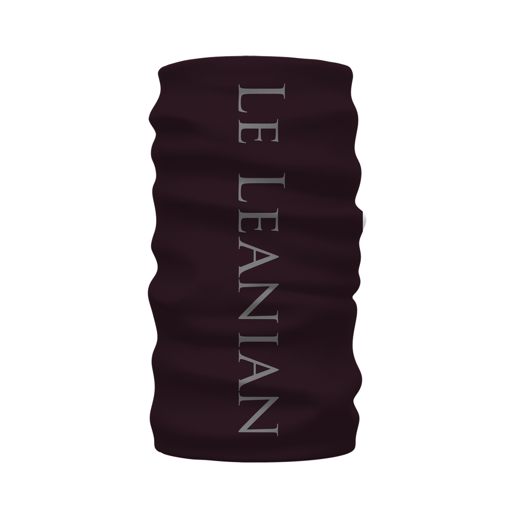 Caesar Skull Relief- French Gothic Neck Warmer- Morf Scarf in Muted Eggplant Wine | Le Leanian™