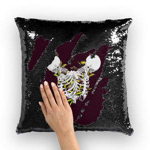 Versailles Divergence Golden Duality- French Gothic Sequin Pillowcase or Throw Pillow in Eggplant Wine | Le Leanian™