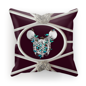 Versailles Siamese Skeletons with Teal Butterfly Rib Cage- Eggplant Red Wine Purple Blood