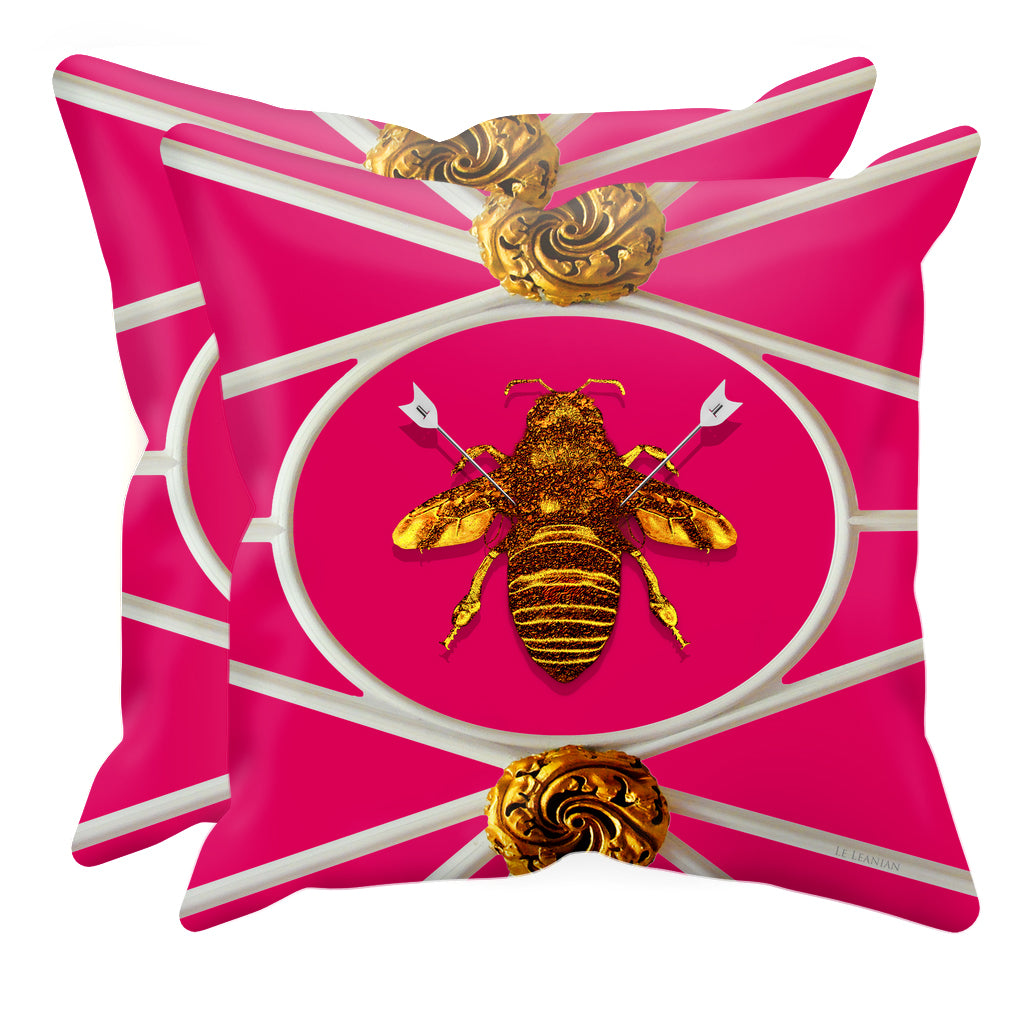 Versailles Bee Divergent- Sets & Singles Pillowcase in Bold Fuchsia | Le Leanian™