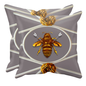 Versailles Bee Divergent- Sets & Singles Pillowcase in Lavender Steel | Le Leanian™