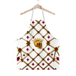 Skull Honeycomb & Magenta Stars- Classic French Gothic Apron in White | Le Leanian™
