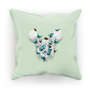 Siamese Skeletons Pillowcase with Butterflies coming out The Ribcage- in Pastel Blue