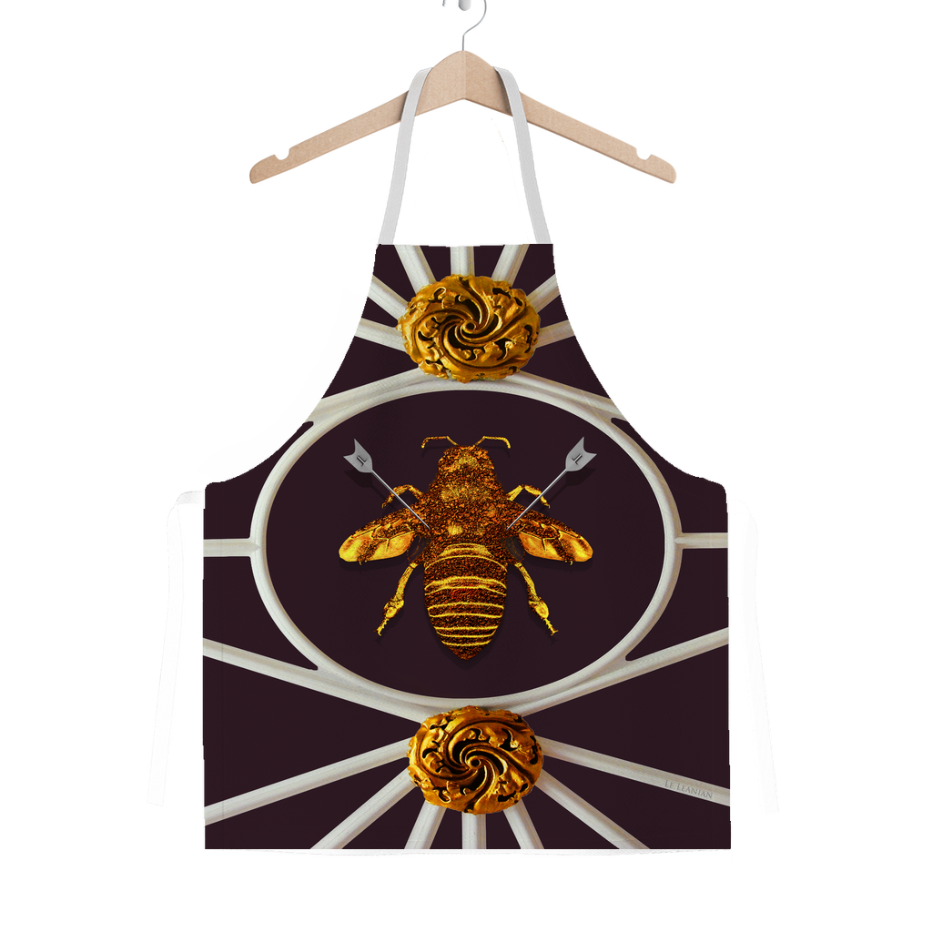 Versailles Bee Divergent- Classic French Gothic Apron in Muted Eggplant Wine | Le Leanian™