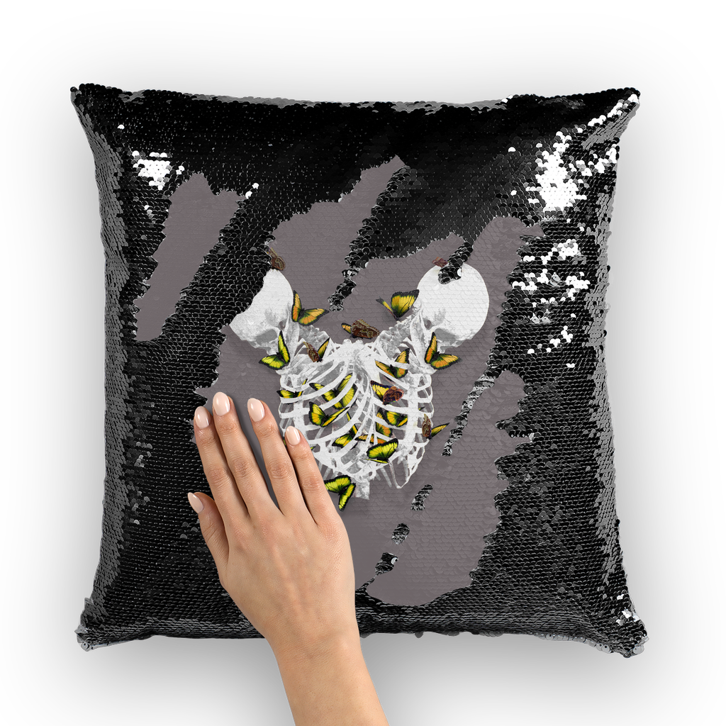 Versailles Divergence Golden Duality- French Gothic Sequin Pillowcase or Throw Pillow in Lavender Steel | Le Leanian™