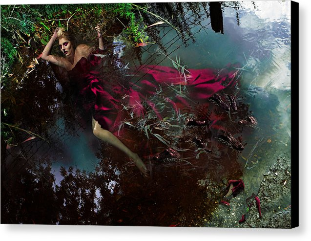 Crimson Waters - Surreal Fine Art Portrait Print on Canvas | The Photographist™