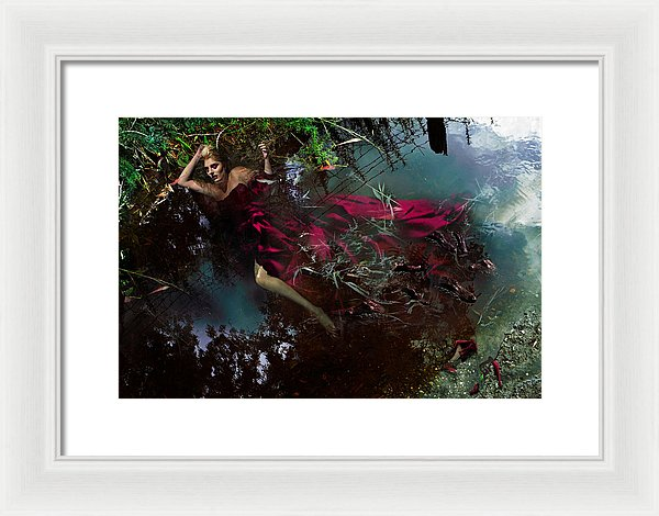 Crimson Waters - Framed Surreal Fine Art Portrait | The Photographist™