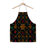 Classic Apron-ABSTRACT MULTI COLOR HONEY BEE PATTERN-Color BLACK