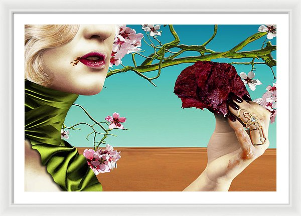 Dining Under Almond Blossoms Vol I - Framed Surreal Fine Art Portrait | The Photographist™