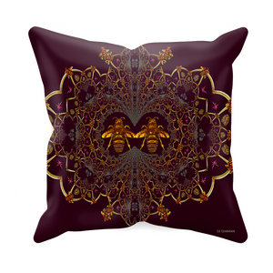 Baroque Honey Bee Extinction- Sets & Singles Pillowcase in Eggplant Wine | Le Leanian™