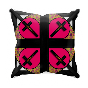 Crossroad Crucifix- Sets & Singles  Pillowcase in Bold Fuchsia | Le Leanian™