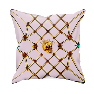 Golden Skull & Jade Star- Sets & Singles Pillowcase in Nouveau Blush Taupe | Le Leanian™