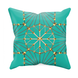 Skull Cathedral- Sets & Singles Pillowcase in Jade Teal | Le Leanian™