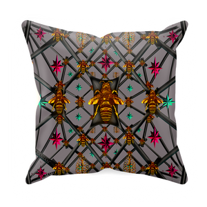 Bee Divergence Abstract- Sets & Singles Pillowcase in Lavender Steel | Le Leanian™