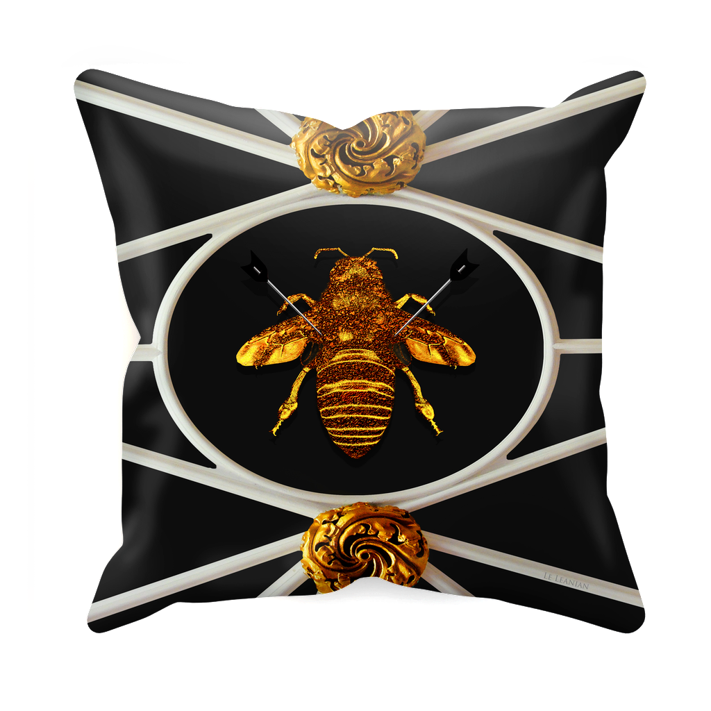 Versailles Bee Divergent- Sets & Singles Pillowcase in Darkest Charcoal | Le Leanian™