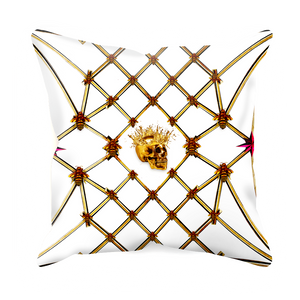 Golden Skull & Magenta Star- Sets & Singles Pillowcase in White | Le Leanian™