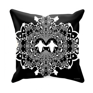 Baroque Hive Relief- Sets & Singles Pillowcase in Back to Black | Le Leanian™