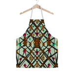 Classic Apron-ABSTRACT MULTI COLOR HONEY BEE PATTERN-Color PASTEL BLUE