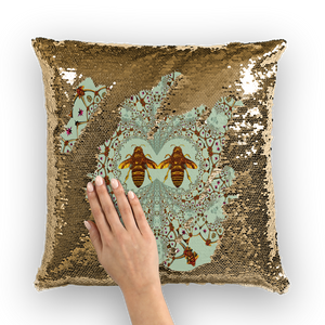 Baroque Honey Bee Extinction- French Gothic Sequin Pillowcase or Throw Pillow in Pastel | Le Leanian™