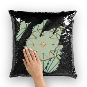 Skull Cathedral- French Gothic Sequin Pillowcase or Throw Pillow in Pastel | Le Leanian™