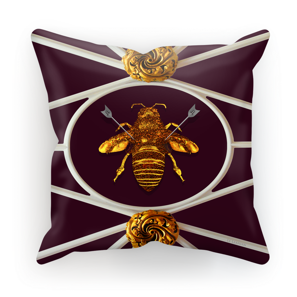 Versailles Baroque Royal Honey Bee Pillowcase- in Eggplant Wine Red Purple
