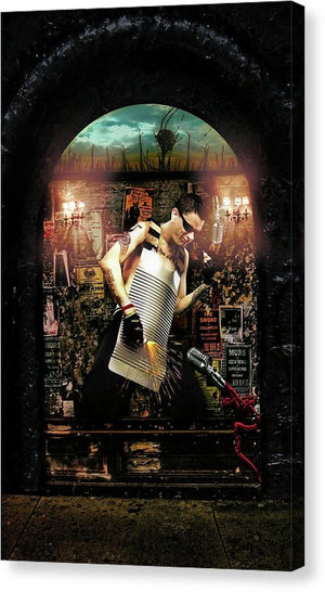 Byzantine Art Billboards, Where Artists Go to Sacrifice- Fine Art Canvas Print