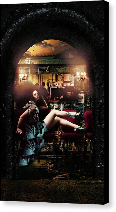 The New Orleans Chronicles: Burlesque - Surreal Fashion Fine Art Portrait Print on Canvas | The Photographist™