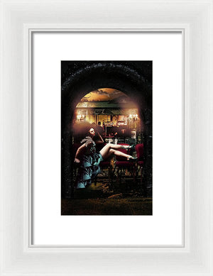 Byzantine Burlesque Billboard, Louisiana, French Quarter- Framed Fine Art Print
