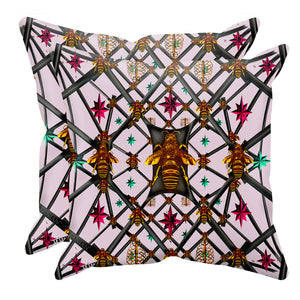Bee Divergence Abstract- Sets & Singles Pillowcase in Nouveau Blush Taupe | Le Leanian™